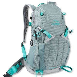 LL Bean Day Trekker Hike BackPack Pack Trail Aqua